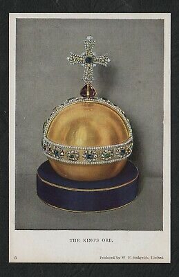 s666)   VINTAGE POSTCARD PART CROWN JEWELS COLLECTION -  THE KING'S ORE