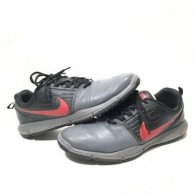 separation shoes 8069c fecba Nike Explorer SL Golf Shoes Mens Size 11.5 Gray Black Red 704694-008