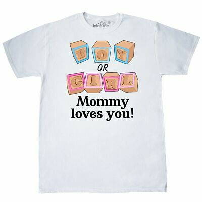 Inktastic Boy Or GIrl, Mommy Loves You T-Shirt Gender Reveal Mama Mom Mother