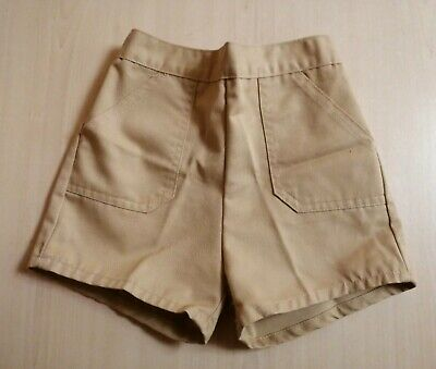 Vintage 1970'S Bhs Brown Boys Shorts Age 3-4