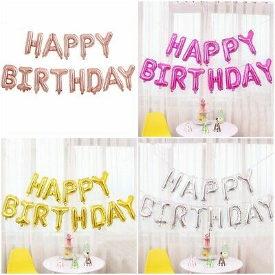 """16/"""" HAPPY BIRTHDAY Balloons Foil Banner Bunting Party Decoration Self Inflating"""