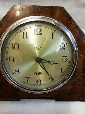(663)    Dark Brown Electric Mantel Peice Clock Made By Smiths Sectric England