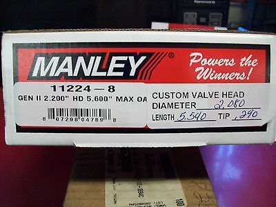 Manley custom stainless intake valves / new / Gen II / 8 valves