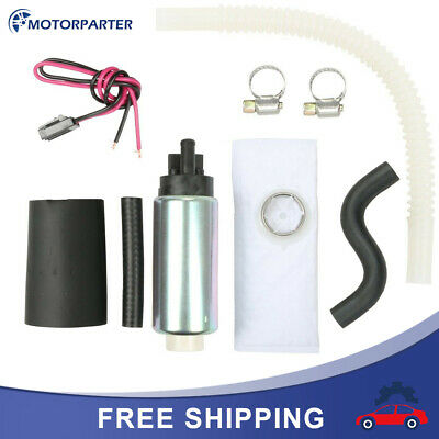 255LPH Center Inlet High Performance EFI Fuel Pump /& Kit Replaces GSS340