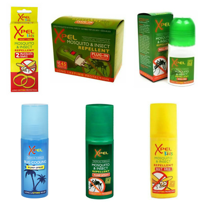 Xpel Mosquito Insect Bite Repellents Sprays Plug In Wipes Sting Relief - Choose