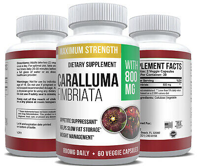 Caralluma Fimbriata Pure Extract Max Strength Diet Weight Loss Supplement