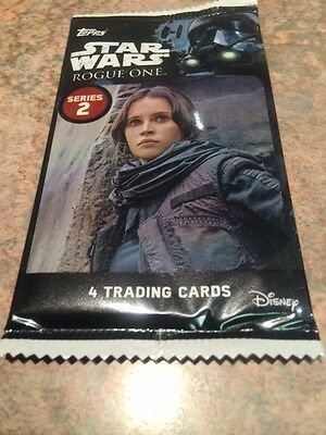 """L@@K Topps Star Wars """"Rogue One: Series 2"""" Factory Sealed Packet"""