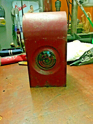 Vintage kerosene/Parafin Road/Railroad Warning Lamp/lantern Red Glass
