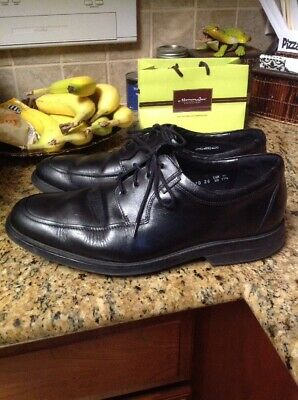 5627abb361 Mephisto Mens Black Leather Split Toe Oxford Lace Up Shoes Air Jet Size US  11.5