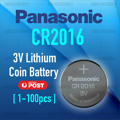 Panasonic CR2016 3V Cell Coin Lithium Button Battery DL2016 ECR2016 GPCR2016