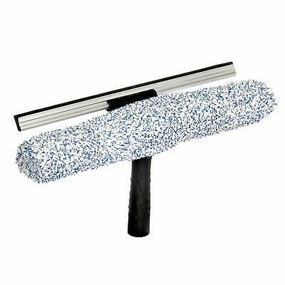 """Alpine Industries 14"""" Microfiber 2in1 Professional Squeegee and Window Scrubber"""