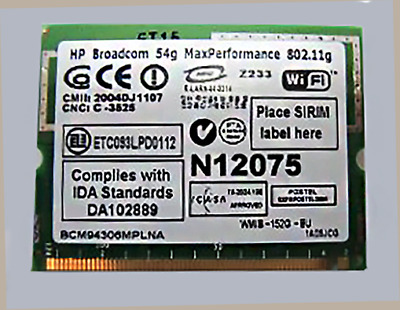 HP Broadcom 54g MaxPerformance 802.11g