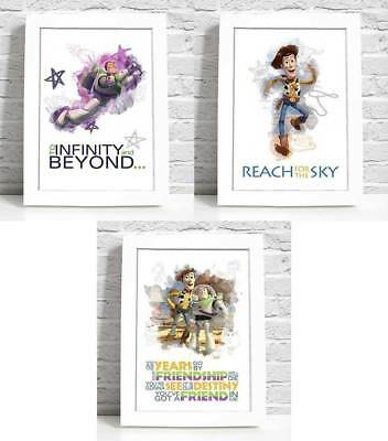 Disney Toy Story Quote A4 Print Art Poster Gift Christening Nursery Watercolour