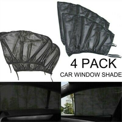 4Pcs Auto Sun Shade Front Rear Window Screen Cover Sunshade Protector For Car