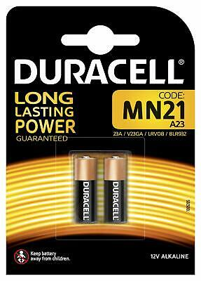 Duracell MN21 A23 Alkaline 12V Battery GP23A LRV08 Pack of 2