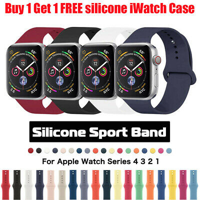 Silicone Sports Apple Watch Band Strap for iWatch Series 4 3 2 1 38/42mm 40/44mm