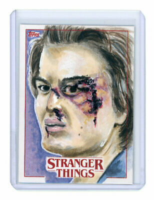 2018 Topps Stranger Things Artist Sketch Card by Keith Farnum