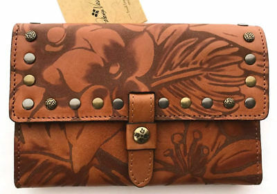 PATRICIA NASH Colli Tobacco Renaissance COIN TRIFOLD Leather Wallet NWT $129 L5