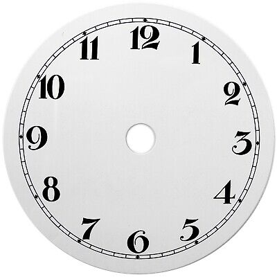 NEW White Replacement Clock Dial 4 inches 100mm Arabic Figures Clocks - CD34