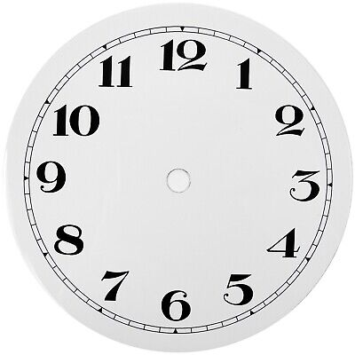 NEW White Replacement Clock Dial 6 inches 152mm Arabic Figures Clocks - CD36