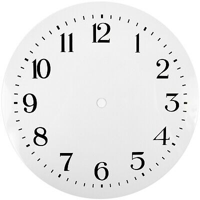 NEW White Replacement Clock Dial 8 inches 200mm Arabic Figures Clocks - CD38
