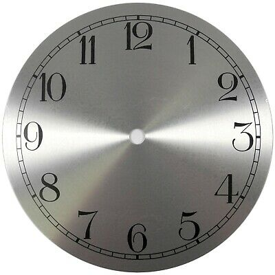 Spun Silver Replacement Clock Dial 7 inches 175mm Arabic Figures Clocks - CD463