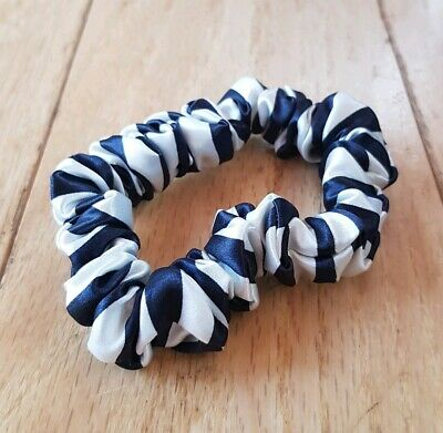 NEW Slip Silk Midi Hair Scrunchie / Tie / Bobble in Black/White