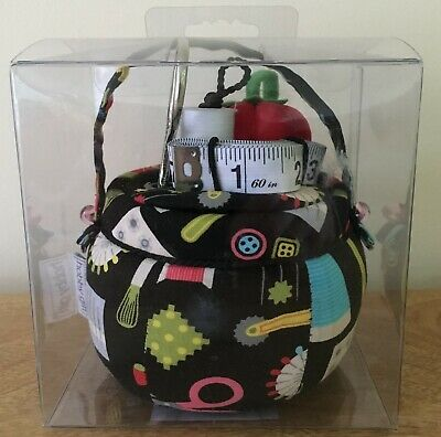 PIN CUSHION WITH STORAGE Fabulous 'Sew it' Design BOXED