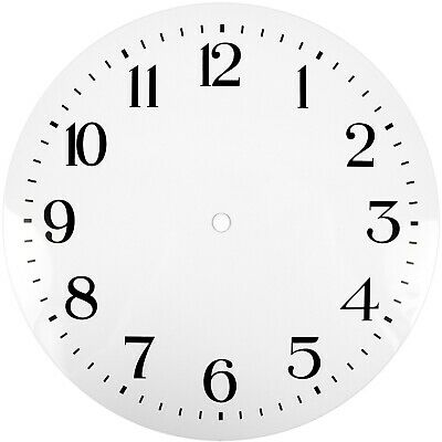 NEW White Replacement Clock Dial 10 inches 254mm Arabic Figures Clocks - CD310
