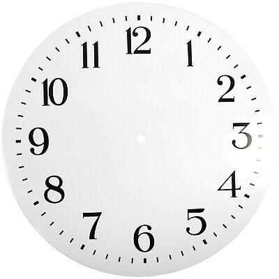 NEW White Replacement Clock Dial 12 inches 298mm Arabic Figures Clocks - CD312