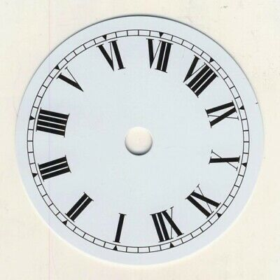 NEW White Replacement Clock Dial 4 inches 100mm Roman Numerals Clocks - CD44