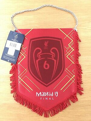 Liverpool Champions League Final 2019 6 Times Winners Pennant Madrid