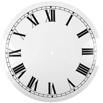 NEW White Replacement Clock Dial 8 inches 204mm Roman Numerals Clocks - CD48