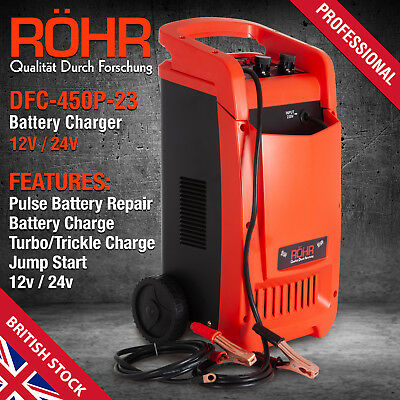 Car Battery Charger Heavy Duty 12V/24V Trickle / Turbo, Vehicle HGV Lorry AU439