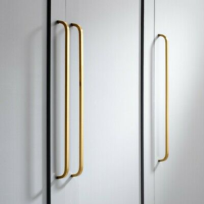 Solid Brass Gold Door And Drawer Bar Kitchen Cabinet Handle Pull Different Sizes