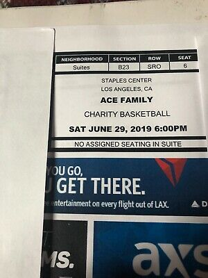 Ace Family Charity Game Suite Tickets Staples Center