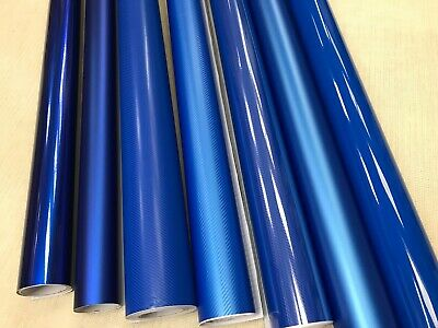 BLUE Carbon Fiber matte Gloss Vinyl Film Car Wrap DIY Waterproof 30cm x 1.52m
