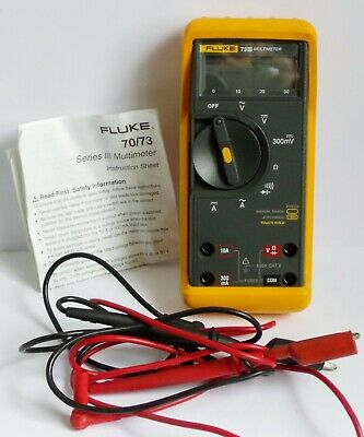 Fluke 73 Iii Multimeter - Complete With Leads &  Case & Instructions