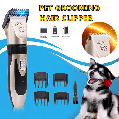 Pet Grooming Hair Clipper Rechargeable Low Noise Cordless Dog Cat Rabbit K1Q8