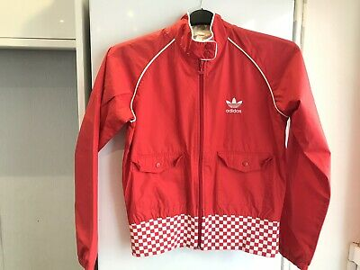 """Adidas Ladies Red Zip Up Jacket Size 12 Chest 38"""""""
