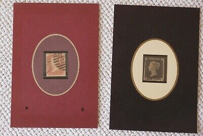 Penny Black and Penny Red stamp