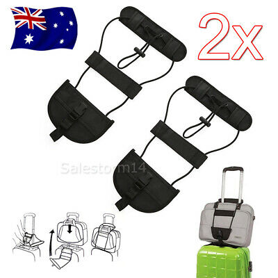 2PC Travel Luggage Suitcase Adjustable Tape Belt Add A Bag Strap Carry On Bungee