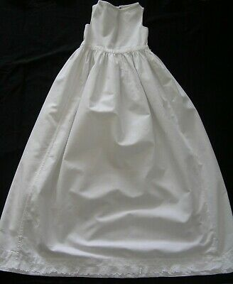 Vintage Christening Gown Petticoat; Cotton With Cotton Lace Trim At Hem