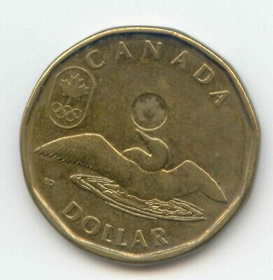 Canada 2014 Canadian Olympic Lucky Loonie Loon One Dollar $1 1 EXACT COIN SHOWN