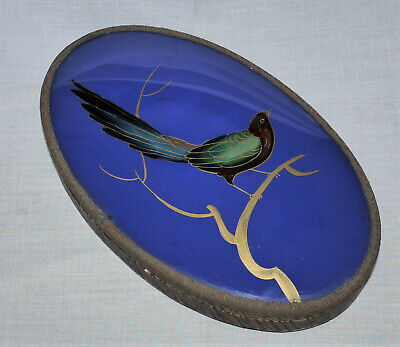 Unusual Oval needlers chocolate box with what looks like a glass lid,