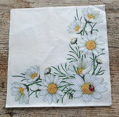 4 x Napkins for decoupage lunch flowers summer floral