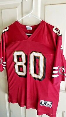 58ffe92c NFL Football Vintage San Francisco 49ers Jerry Rice #80 Jersey Sz XL Starter