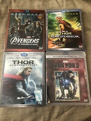 Avengers, Thor 2,3 & Iron Man 3 Bluray 3D Marvel New & Selaed Ships from Mexico