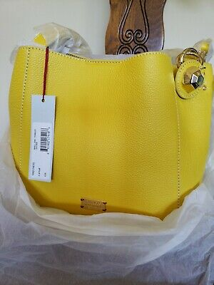 ee69dd6187 NWT Frances Valentine by Kate Spade Small June Hobo Crossbody Canary Yellow  $298