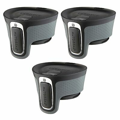 Contigo AUTOSEAL West Loop Easy-Clean Travel Mug Replacement Lid Black (3-Pack)